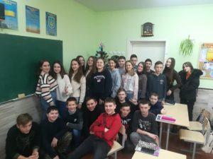 Read more about the article Новорічне свято у 8-В класі