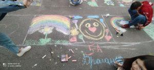 Read more about the article Конкурс малюнку на асфальті «Барви дитинства». Враження учасників